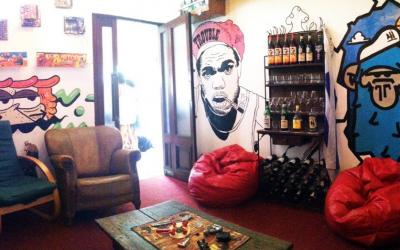 Beach Hostel 420 Santa Maria in Pocitos, Montevideo, Uruguay.