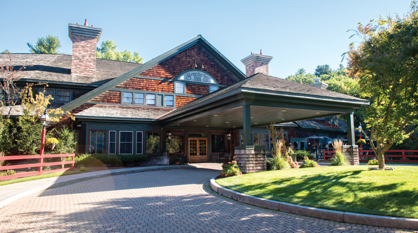 The Stonehedge Hotel & Spa in der Nähe von Boston. Stoned im Luxus baden. Massachusetts, USA.